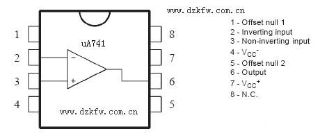集成运算放大电路_UA741中文资料_UA741引脚图_UA741放大电路_UA741应用