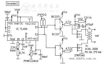 TL494逆变电路图,TL494 POWER INVERTER
