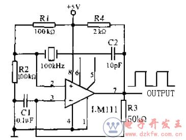 石英晶体矩形波振荡器电路图