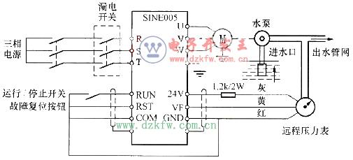00 PLC在恒压供水控制系统中的应用及梯形图