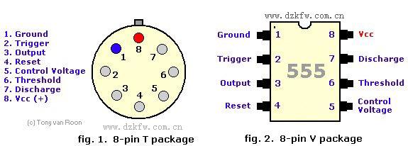 555内部结构,特点及引脚图