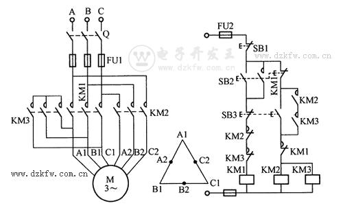 双速电动机控制电路图图片