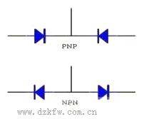 pnp和npn图_图示:npn和pnp三极管的区别图