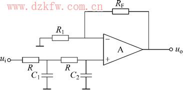 一阶有源低通滤波电路图片