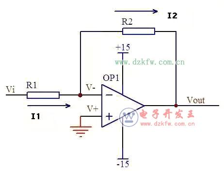 运放的输入端的虚拟断路:2,反相输入方式的运放电路的主要用途:输入