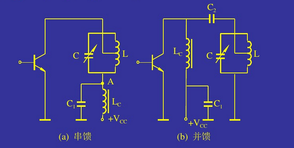 晶体管2n5551作为放大管,三极管q1,电感l1,电容c2组成甲类功率放大器