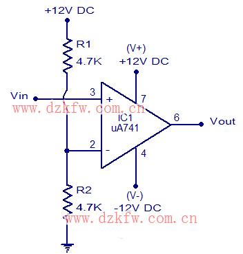 简单电压比较器电路图大全(LM358/LM324/有源带通滤波器)