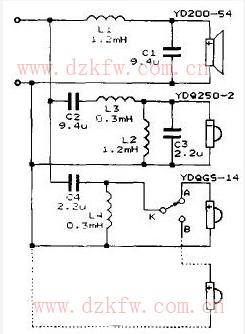 音箱分频器音响二分频器电路图(六款模拟电路设计原理